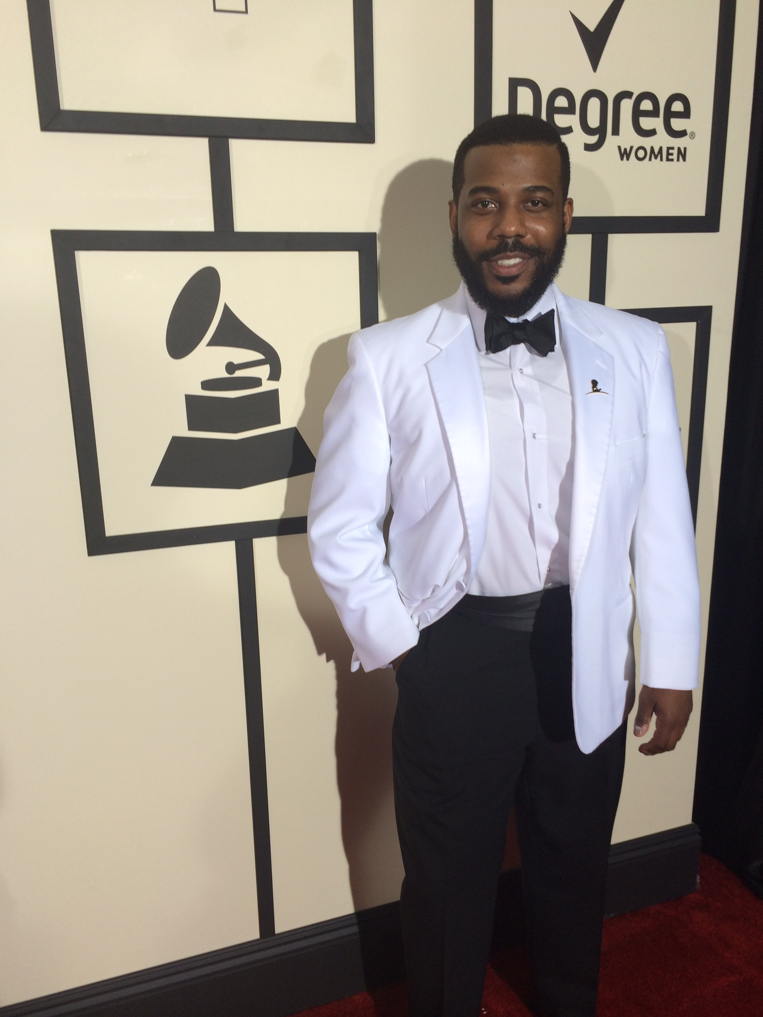 GRAMMY nominee Sidney Outlaw at the 57th GRAMMY Awards.