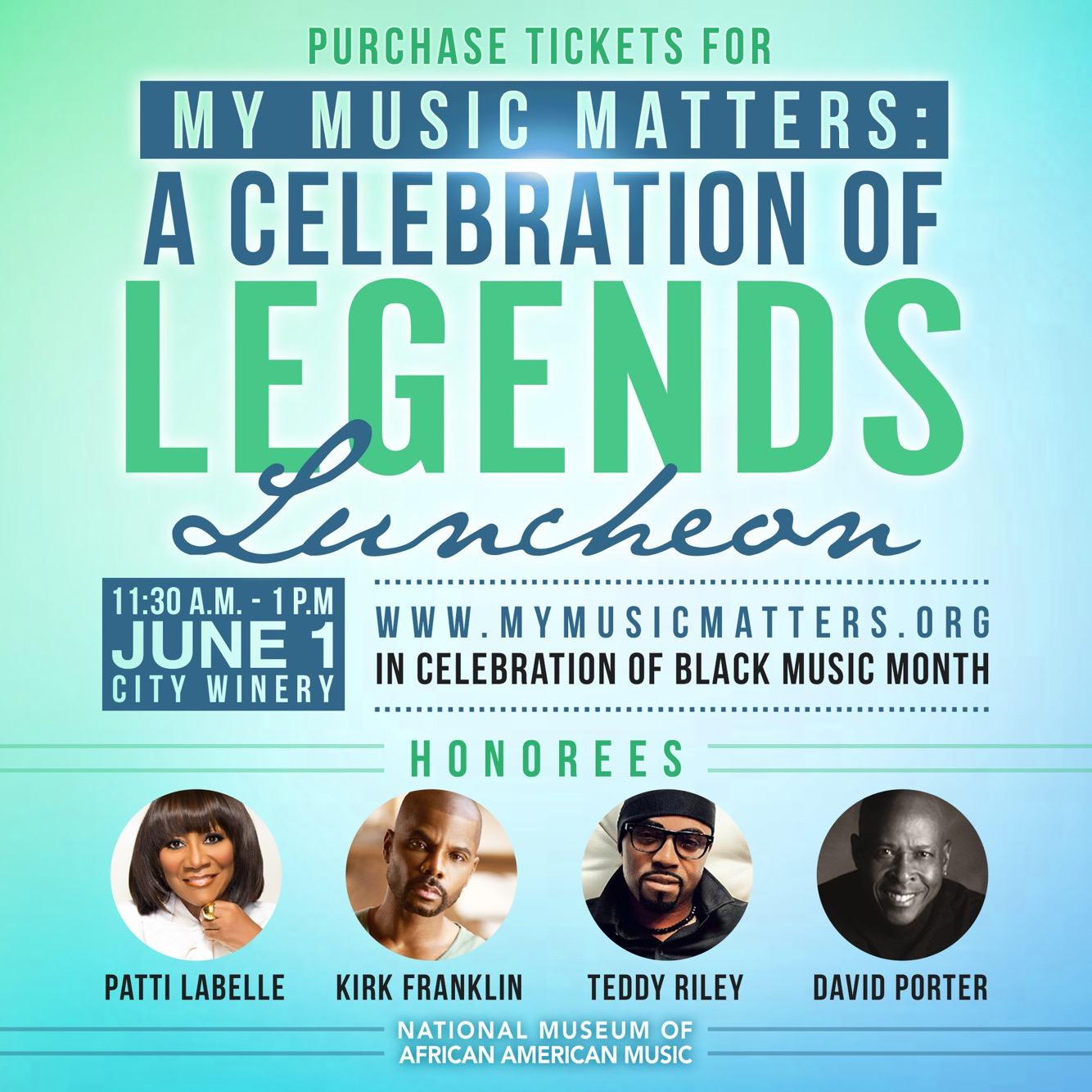 National Museum of African American Music to Honor Patti LaBelle at 2017 Legends Luncheon